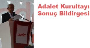 ADALET KURULTAYI SONUÇ BİLDİRGESİ