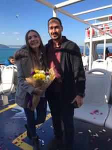 Gemide evlilik teklifi