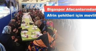 Bigaspor Afacanlarından Afrin şehitleri için mevlit
