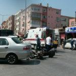 Kavşakta kaza, 1 yaralı