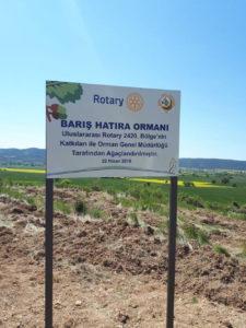 Rotaryenler ormanlarını oluşturuyor