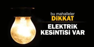 Elektrik kesintisi uygulanacak